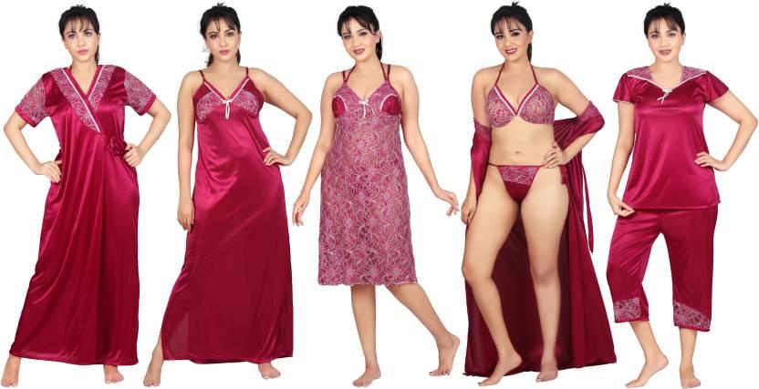 Carrel Women s Nighty Set - Buy Pink Carrel Women s Nighty Set ... 7e1bdf7b3