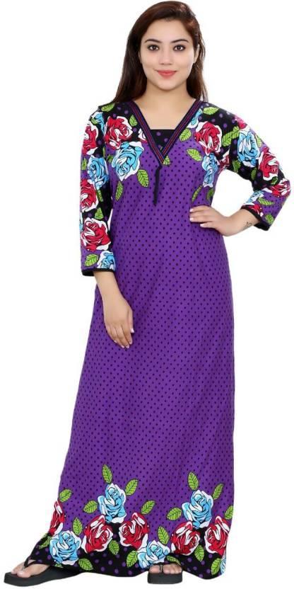 Romaisa Women s Nighty - Buy Purple Romaisa Women s Nighty Online at ... 32051474e