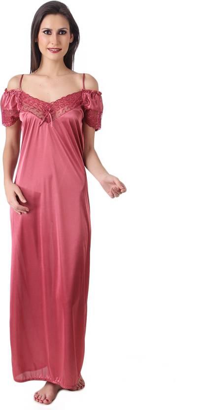 Masha Women s Nighty - Buy Pink Masha Women s Nighty Online at Best ... 23c683fae