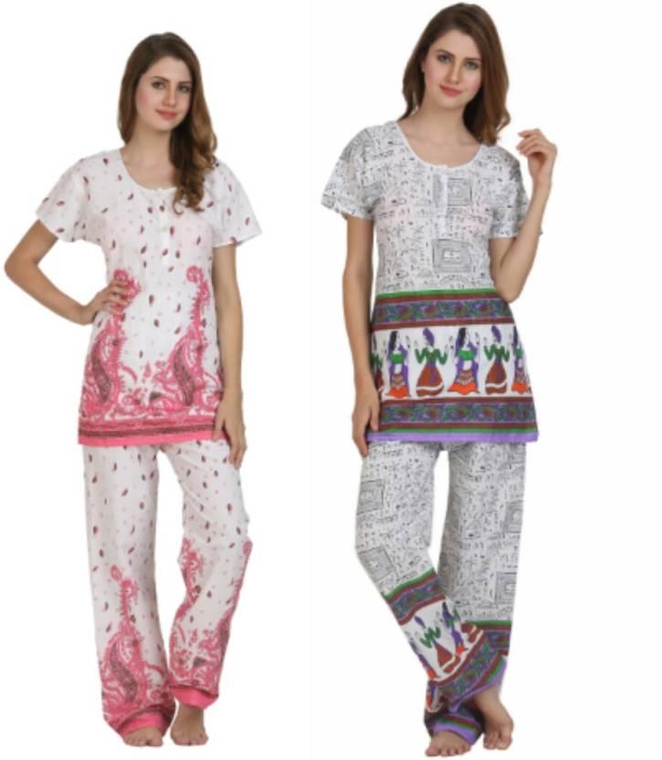 Miavii Women s Printed Multicolor Top   Pyjama Set Price in India - Buy  Miavii Women s Printed Multicolor Top   Pyjama Set at Flipkart.com Top   Pyjama  Set 8e586be31