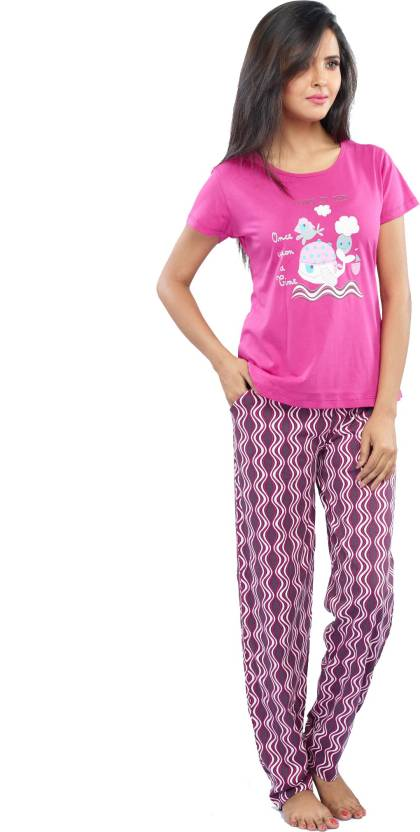 bd396edf1 Juliet Women s Solid Pink Top   Pyjama Set Price in India - Buy Juliet  Women s Solid Pink Top   Pyjama Set at Flipkart.com Top   Pyjama Set