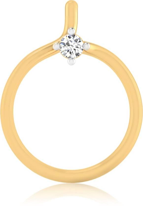 IskiUski Serenity Single Diamond Nose Pin 14kt Diamond Yellow Gold