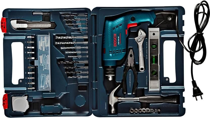 Bosch GSB 500 RE Power Tool Kit (Blue)