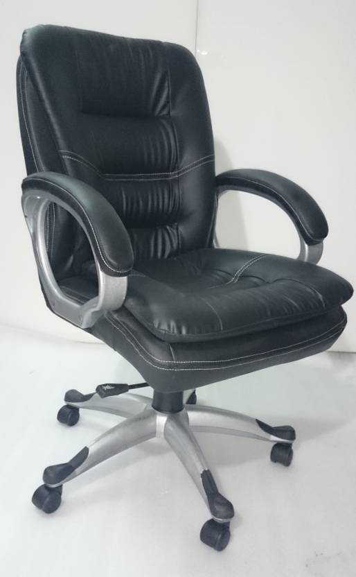 Adiko Leatherette Office Arm Chair Black