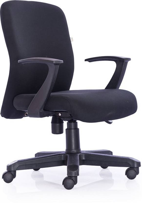 Durian Oxford-Mb-Black Fabric Office Arm Chair Price in India - Buy ...