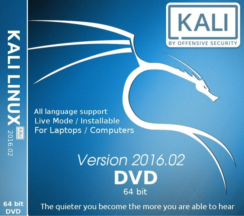 how to put kali linux on a dvd