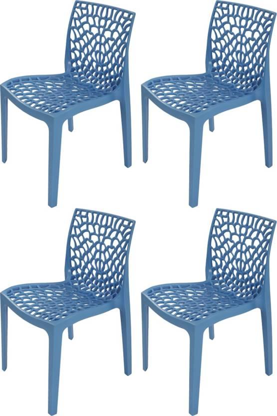 Supreme Web Plastic Outdoor Chair Finish Color Soft Blue