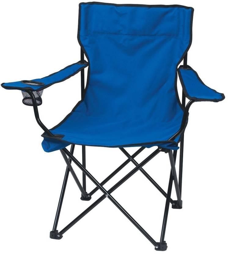 e9e0957817b Shrih Portable Folding Camping Metal Outdoor Chair (Finish Color - Blue)