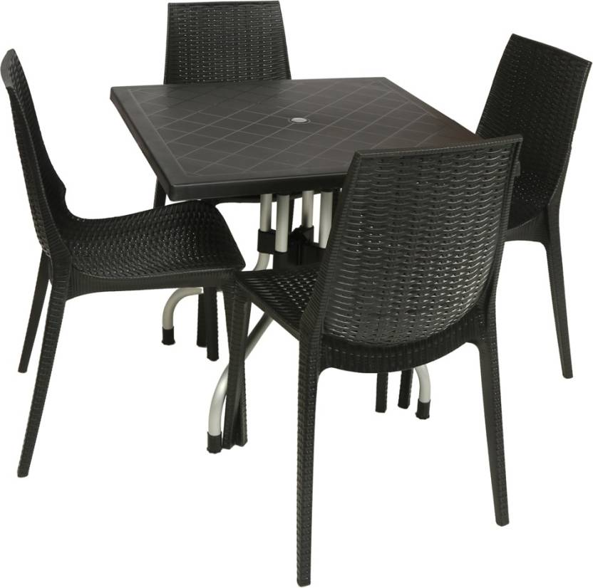 Supreme Wenge Plastic Table Chair Set