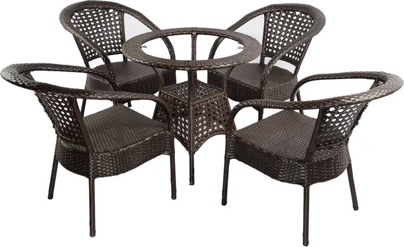 mavi brown cane table chair set price in india buy mavi brown