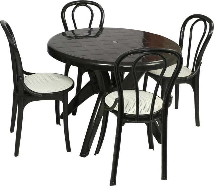 Supreme Black Plastic Table u0026 Chair Set  sc 1 st  Flipkart & Supreme Black Plastic Table u0026 Chair Set Price in India - Buy Supreme ...
