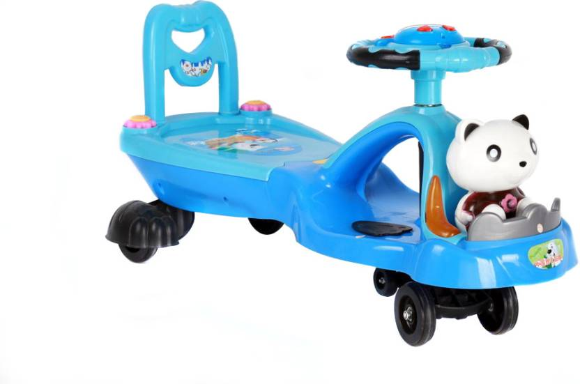 Happy Kidz Magic Ride-On Swing Car with Music - Panda - Magic Ride