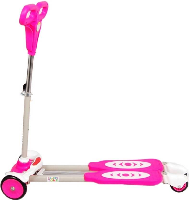 Y Fliker Scooter >> Deep Sales Four Wheel Y Fliker Folding Skate Scooter Pink