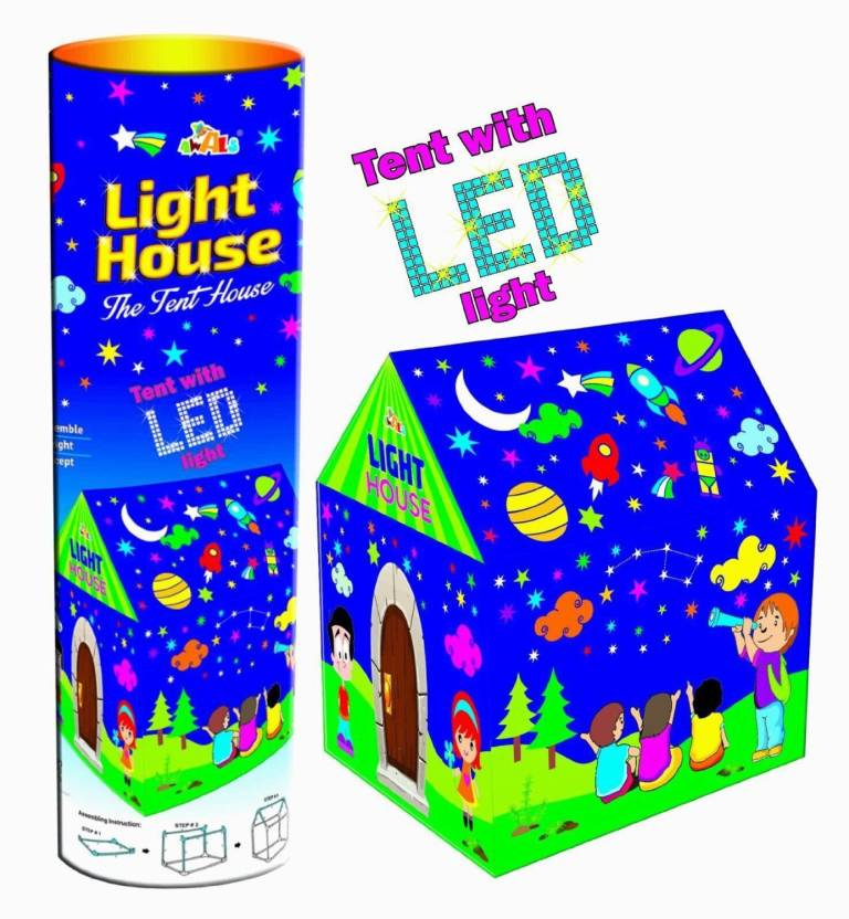 Taaza Garam Light Tent play House For Kids Toys with Led Lights