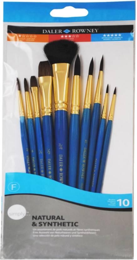 Daler-Rowney Bright, Filbert, Round, Flat Paint Brush