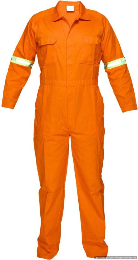 Legasea Ocean King Orange Boiler Suits With Reflective Tapes Paint Coverall Xl