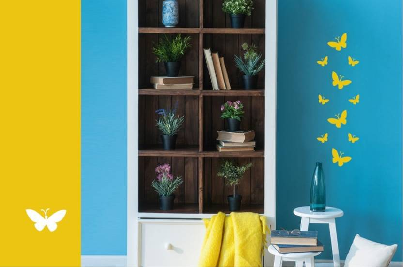 Asian Paints Wall Stories Butterfly DIY Stencil Kit - Yellow ...