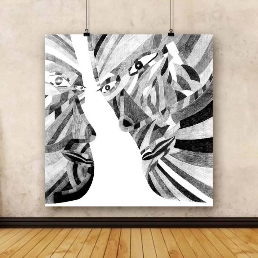 Artzfolio Abstract Pencil Drawing Framed Art Print Canvas Painting ...