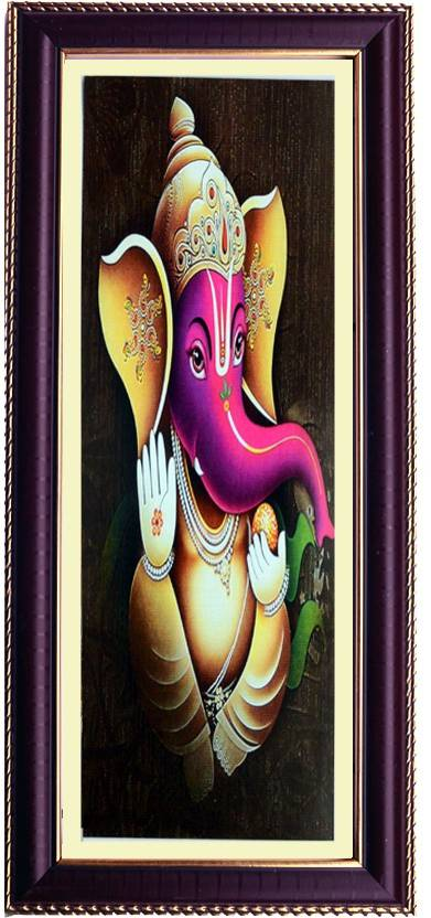 Janki God Ganesh Ji Wall Painting For Temple With Frame Digital