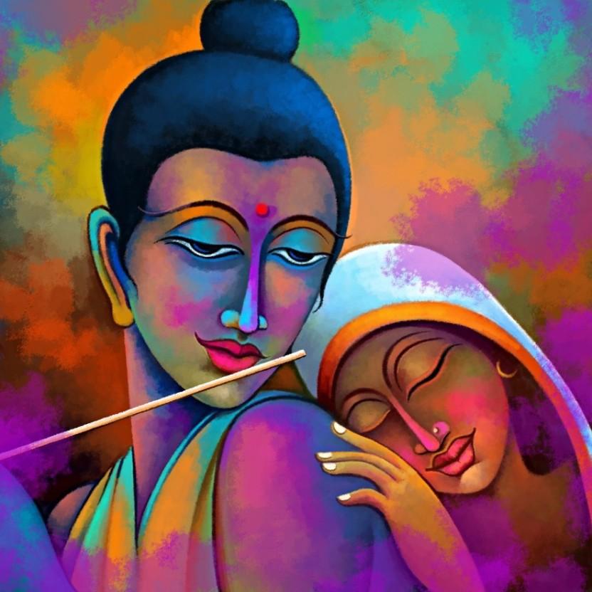 Radha Krishna Painting Canvas Art Radha Krishna