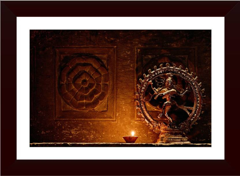 Wallmantra Nataraj With A Lamp Wall Hanging Canvas 16 Inch X 21 Inch