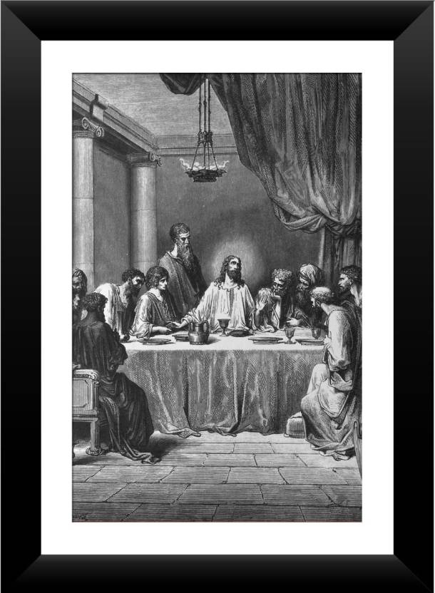 Wallmantra The Last Supper Wall Hanging Canvas Painting Price in ...