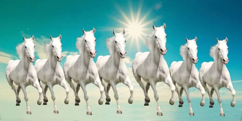 Elegance 7 RUNNING HORSES Canvas Painting