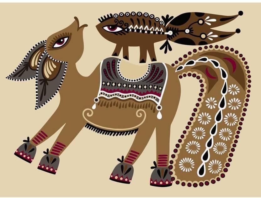 Pitaara Box Ukrainian Tribal Ethnic Artwork Unusual Horse Framed