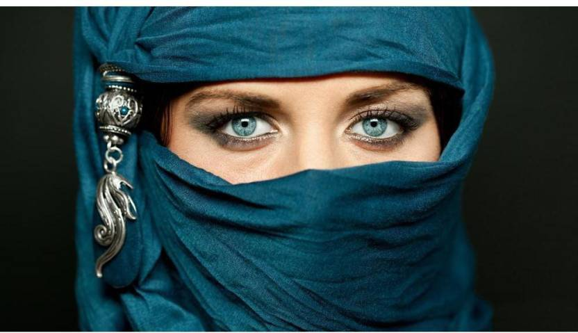 Artzfolio Arabic Young Woman In Traditional Islamic Cloth Niqab