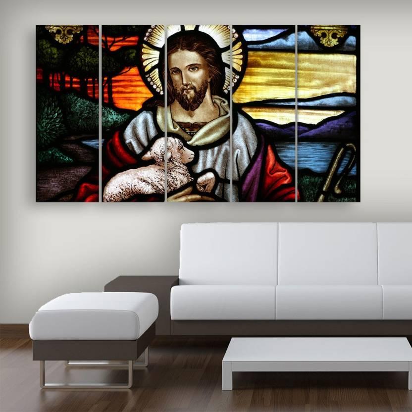 Inephos Jesus Beautiful Wall Painting Multiple Frames Digital ...