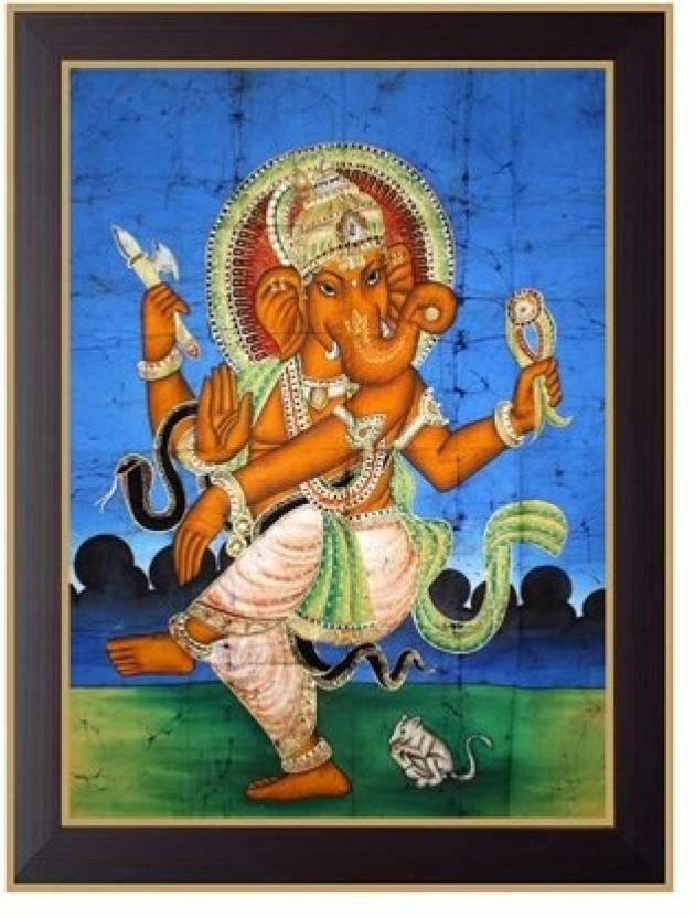 Nilgiri Touch Dancing Ganesha Photo Frame Canvas 13 Inch X 10 Inch