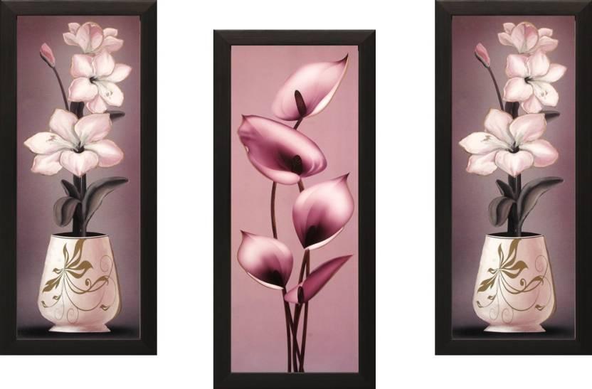 SAF Floral Set Of 3 Ink Painting