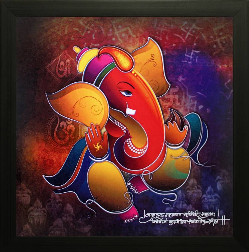 SAF Ganesh Oil Painting Price in India - Buy SAF Ganesh ...