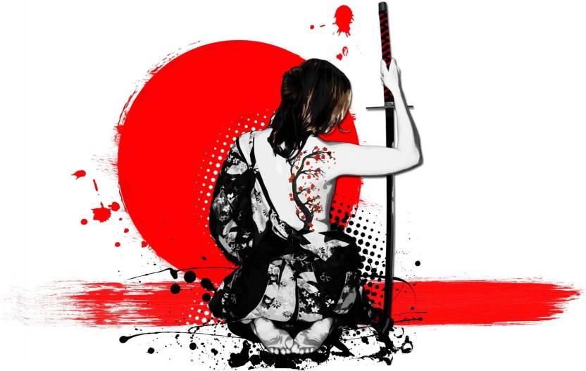 Tallenge Japanese Art - Modern - The Female Samurai - Large