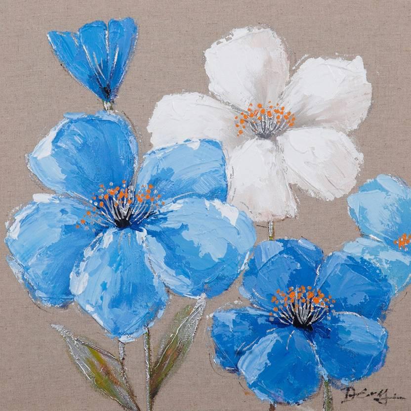 Om art tree floral blue white flowers oil painting price in om art tree floral blue white flowers oil painting mightylinksfo