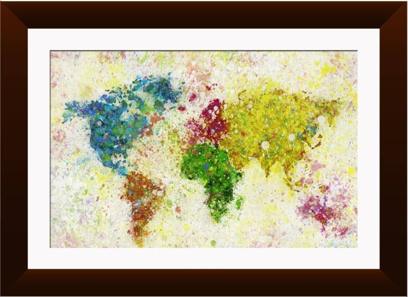 Wallmantra colorful world map wall hanging canvas painting price in wallmantra colorful world map wall hanging canvas painting gumiabroncs Images