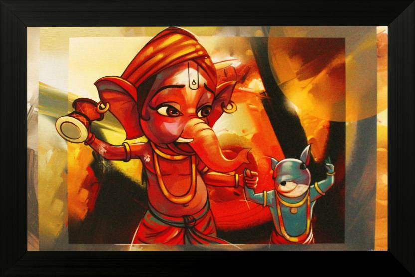 Saf bal ganesh texture print with uv canvas painting price for Where to buy canvas art