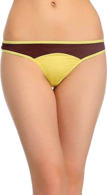 5e84c86199027 Clovia Women s Thong Yellow Panty - Buy Yellow Clovia Women s Thong ...