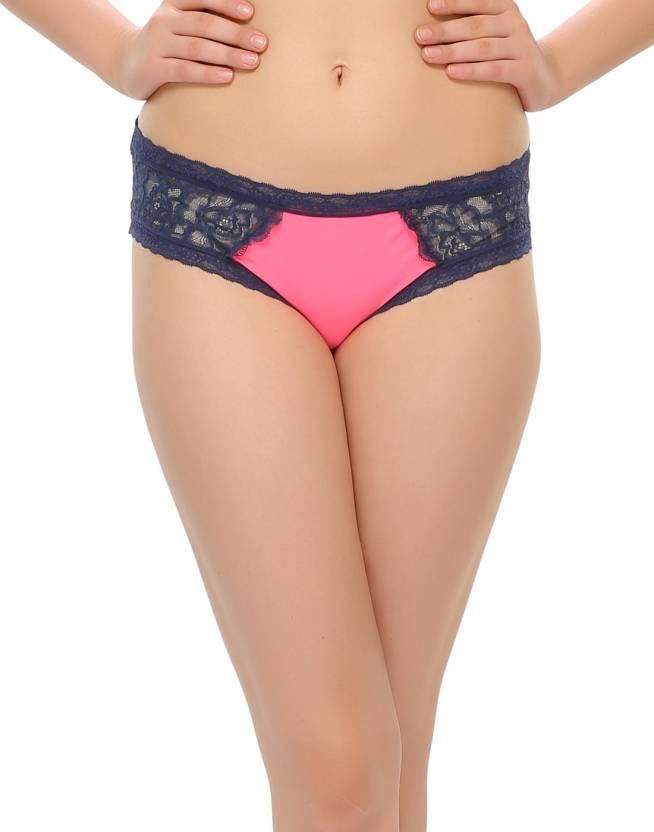 bc8d0d850cd8 Clovia Polyamide with spandex, Lace Women's Bikini Pink Panty - Buy ...