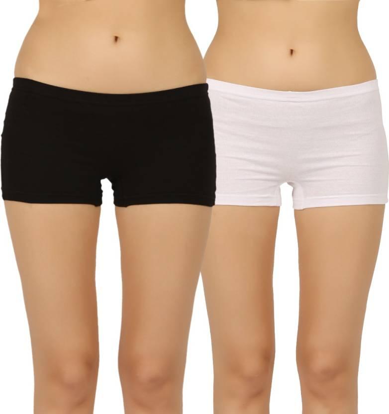 ce924475e Vaishma Women s Boy Short Multicolor Panty - Buy White