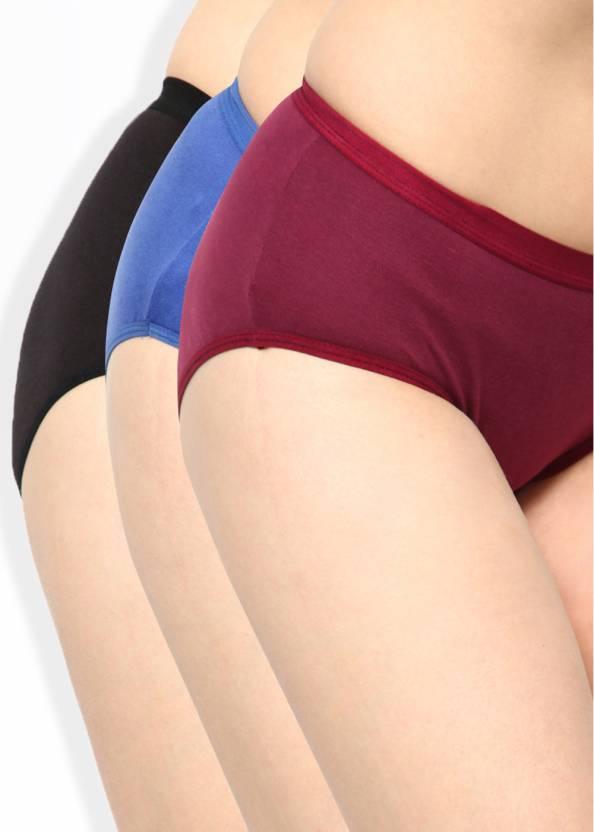 fcbb5b9627d8 Lady Lyka Women's Bikini Maroon, Black, Blue Panty - Buy BLUE-BROWN ...