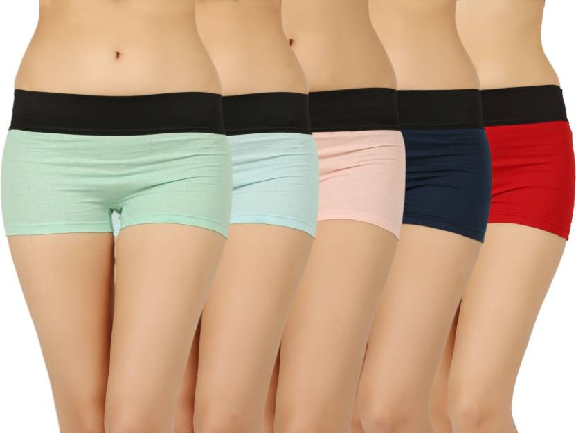 8fcbff36a Vaishma Women s Boy Short Multicolor Panty - Buy Green