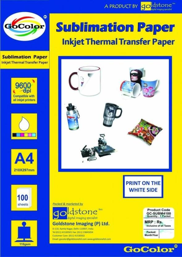 Gocolor Transfer Paper Unruled A4 Sublimation Mug Printing Paper
