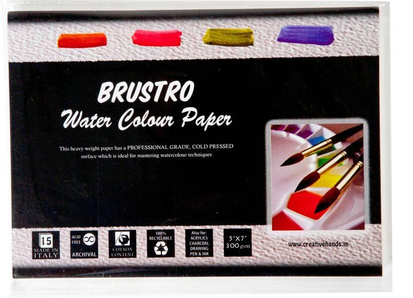 "Brustro Watercolor Paper 300 gsm Pack (5""X7"")"