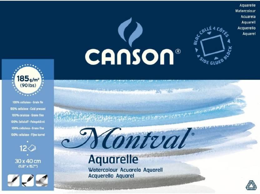 235dc97e879 Canson Montval Unruled 30 x 40 CM Watercolor Paper
