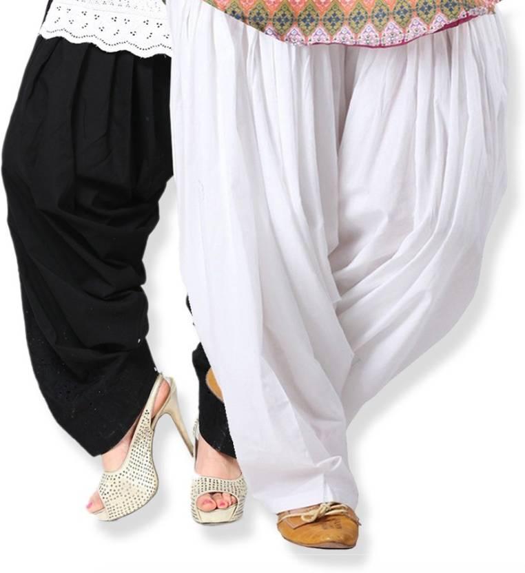 1871e8248f Comfort Cotton Solid Salwar - Buy Combo White