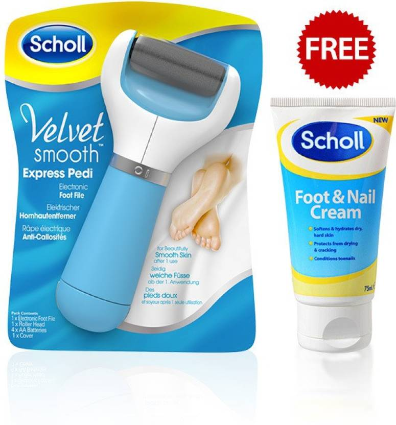 Scholl Velvet Smooth Express Pedi Electronic Foot File - Price in India, Buy Scholl Velvet Smooth Express Pedi Electronic Foot File Online In India, ...