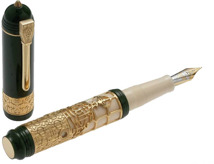 Visconti Medina Silver Vermeil Fountain Pen
