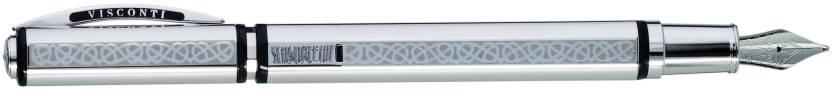 Visconti Gordian Knot Silver Fountain Pen
