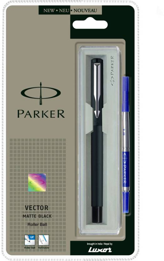 Parker Vector Matte Black Roller Ball Pen